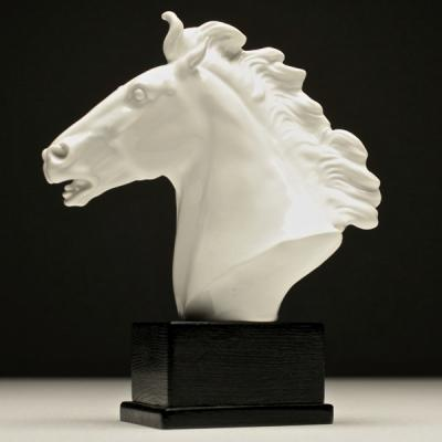 Фарфоровая скульптура Голова лошади, Мейсен