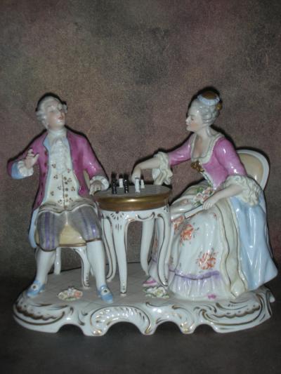 Пара за шахматным столом