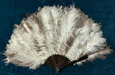 Веер из страусиных перьев