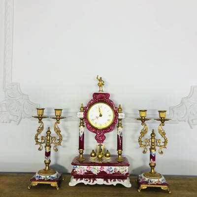 Гарнитур каминных часов 1960х годов, Италия