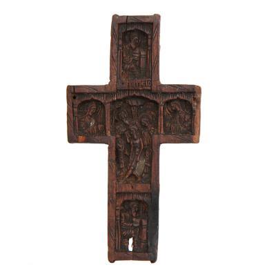 Резной крест-мощевик с Частицей Животворящего Креста, Афон