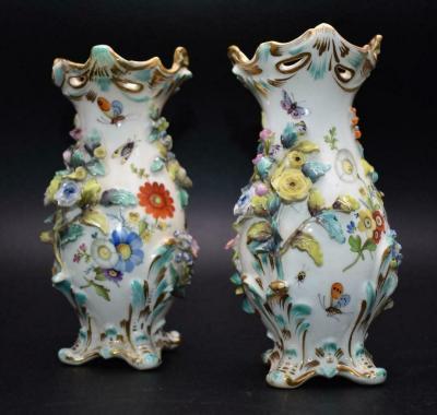 Парные вазы 19 века Мейсен
