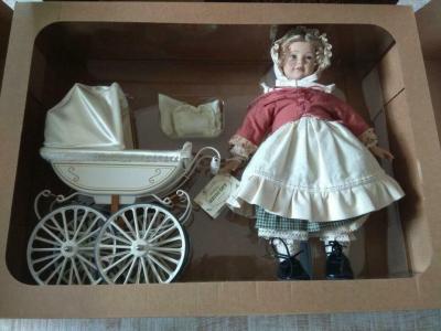 Кукла с коляской фирмы Merklin