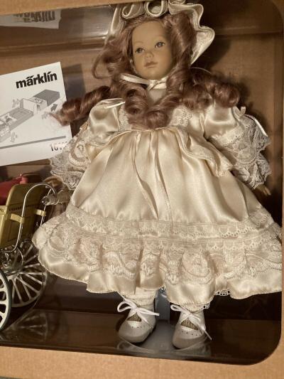 Кукла ручной работы немецкой фирмы Merklin