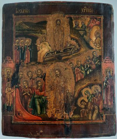 Икона Воскресение Христово с двунадесятыми Праздниками