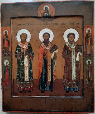 Икона Вселенские Учителя Церкви XVIII век