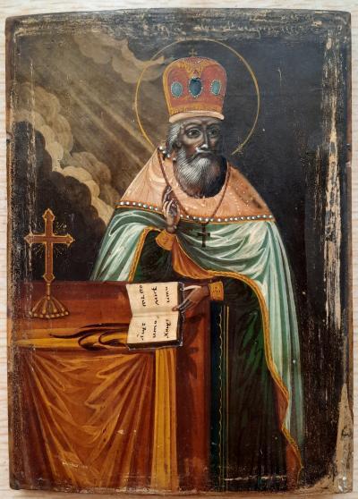 Икона Святой Афанасий Игумен Брестский XIX век