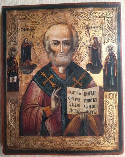 Икона Святой Николай Чудотворец Святитель Мирликийский XIX век
