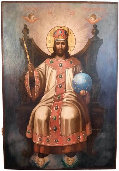 Храмовая икона Спас на Троне XIX век
