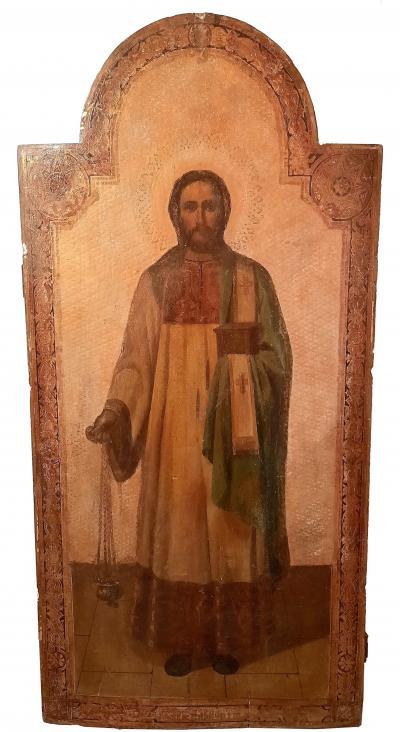 Храмовая икона Святой Мученик Архидиакон Лаврентий XIX век