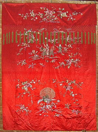 Завеса. Китай, шелк 19 век