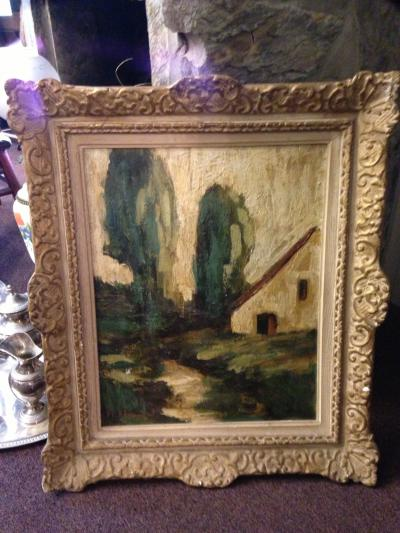 Картина, пейзаж, Бельгия, автор неизвестен.