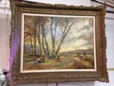 Картина, пейзаж, Франция, автор неизвестен.
