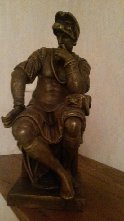 Антикварная скульптура из бронзы