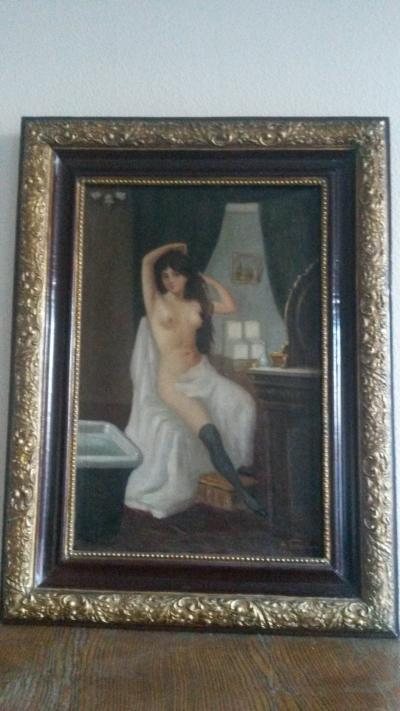 Антикварная картина Тигинъ А.