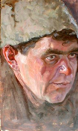 Портрет мужчины в папахе.