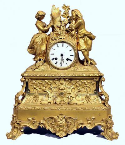 Каминные часы в стиле рококо, ок. 1840 г.