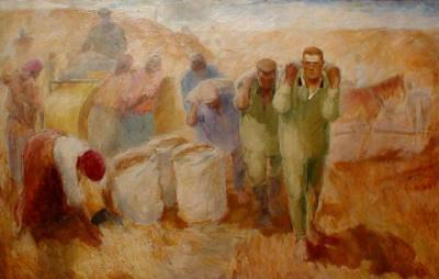 Сбор зерна.