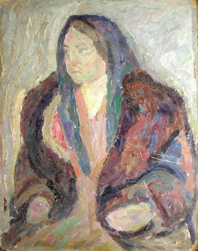 Портрет женщины в шали.