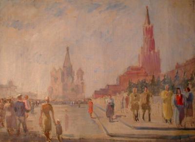 Вид на Красную площадь.