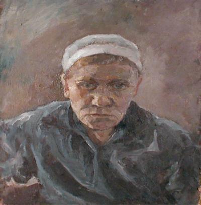 Портрет старой женщины.